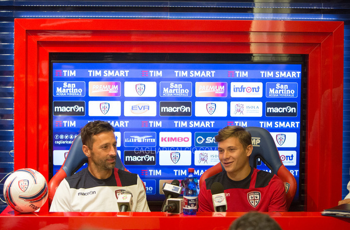 Colombo e Barella in conferenza stampa
